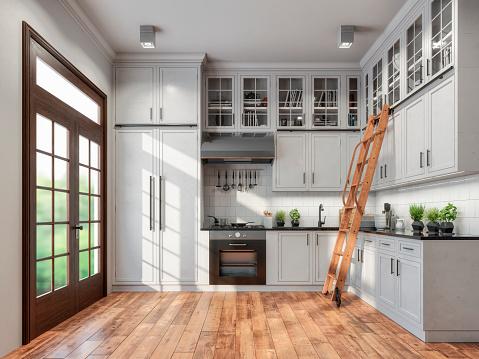 Nostalgia「Empty classic kitchen」:スマホ壁紙(11)