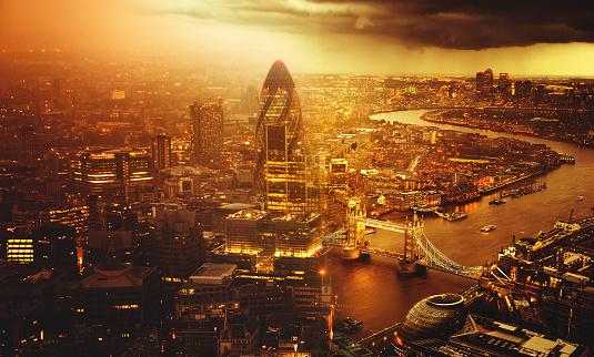 London Bridge - England「tower bridge helicopter aerial view in london」:スマホ壁紙(15)