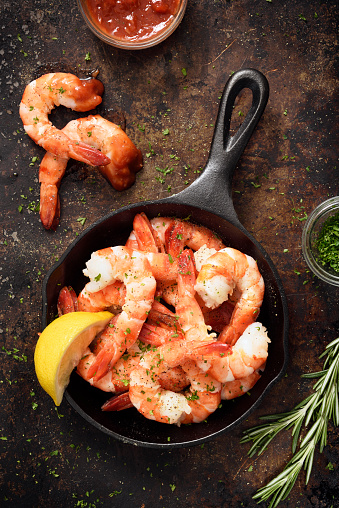 Seafood「Shrimps in a skillet」:スマホ壁紙(10)