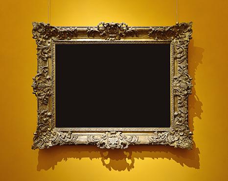 Black Color「Retro Picture Frame」:スマホ壁紙(11)