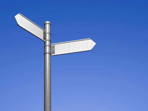 Choosing「Blank signpost」:スマホ壁紙(1)
