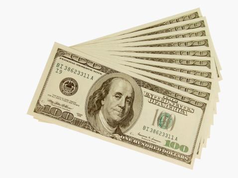 American One Hundred Dollar Bill「Arrangement of American bank notes」:スマホ壁紙(14)