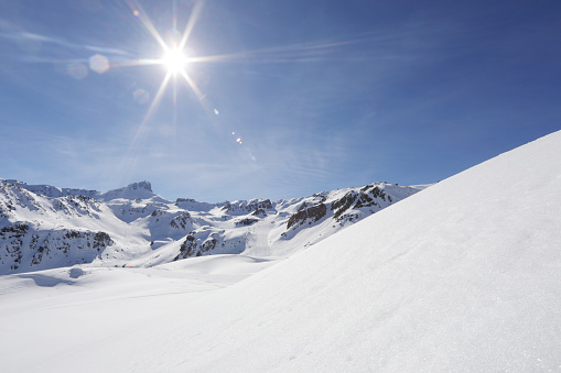 Part of a Series「Snowy scene in the Alps」:スマホ壁紙(12)
