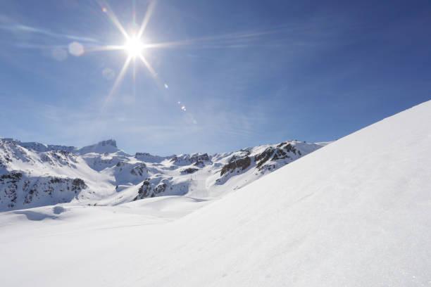 Snowy scene in the Alps:スマホ壁紙(壁紙.com)