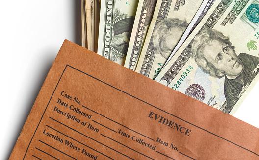 American One Hundred Dollar Bill「Evidence bag full of US dollars」:スマホ壁紙(2)