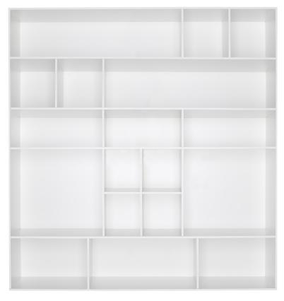 Box - Container「Empty white wooden bookshelf」:スマホ壁紙(8)