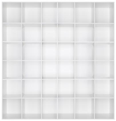 Rectangle「Empty white wooden bookshelf」:スマホ壁紙(18)