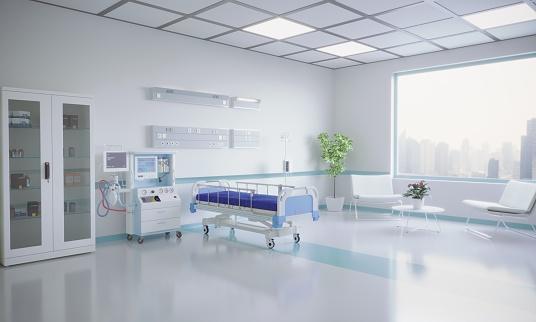 Bedroom「Modern Hospital Room Interior」:スマホ壁紙(0)
