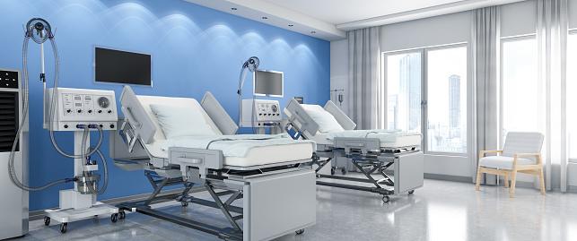 Illness「Modern Hospital Room with Ventilator System」:スマホ壁紙(7)