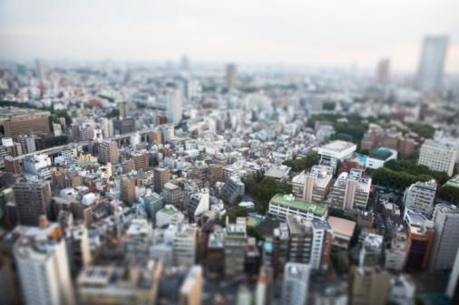 Selective Focus「Cityscape, aeria; view」:スマホ壁紙(10)