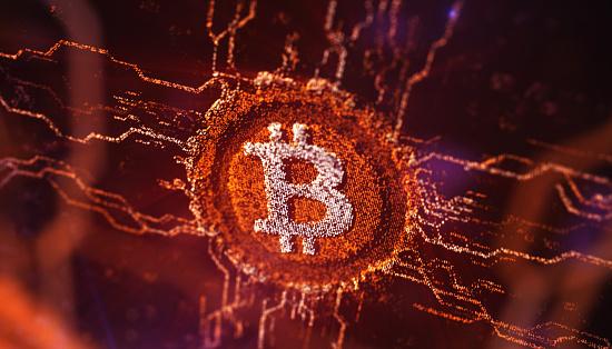 Circuit Board「Digital Cryptocurrency Featuring Bitcoin」:スマホ壁紙(9)