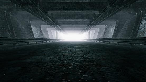 Light at the End of the Tunnel「Dark empty tunnel, hangar」:スマホ壁紙(15)