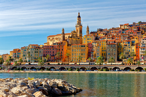 Townscape「Menton, Cote d'Azur,South of France」:スマホ壁紙(9)