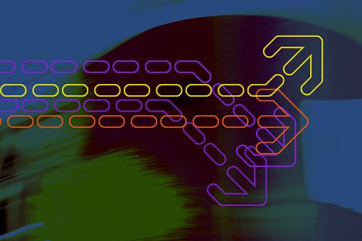 Quantum Computing「Graphic arrow on abstract background」:スマホ壁紙(10)