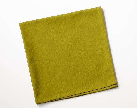 Napkin「Isolated shot of folded green napkin on white background」:スマホ壁紙(6)