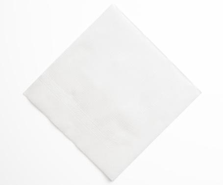Napkin「Isolated shot of blank white paper napkin on white background」:スマホ壁紙(2)