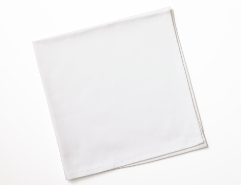 Folded「Isolated shot of folded white napkin on white background」:スマホ壁紙(2)