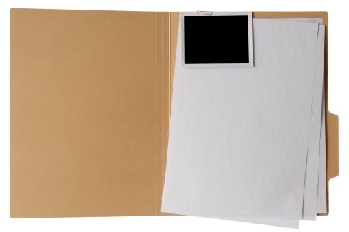 Insurance「Isolated shot of opened file folder on white background」:スマホ壁紙(18)