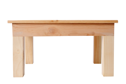 Leg「Isolated shot of wooden table on white background」:スマホ壁紙(14)