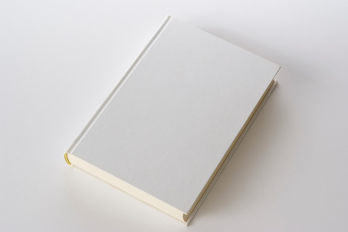 Closed「Isolated shot of white blank book on white background」:スマホ壁紙(12)