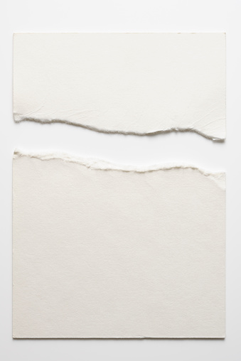 Textured Effect「Isolated shot of torn blank white paper on white background」:スマホ壁紙(11)