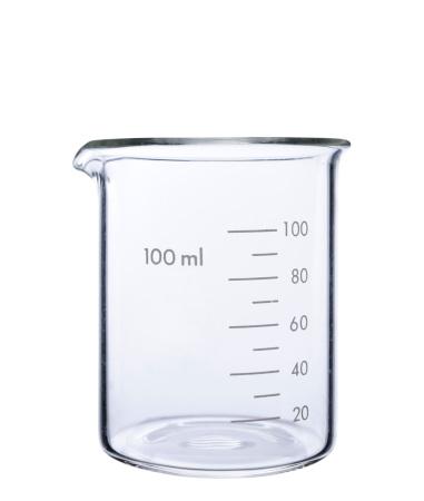 Transparent「Isolated shot of empty measuring beaker on white background」:スマホ壁紙(12)