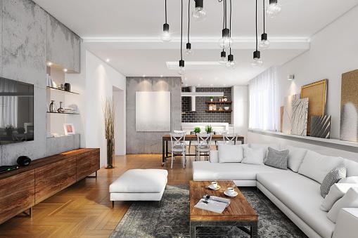 Loft Apartment「Modern hipster apartment interior」:スマホ壁紙(16)