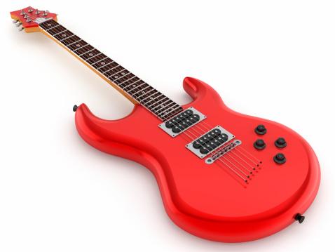 Rock - Object「Red electric guitar」:スマホ壁紙(0)