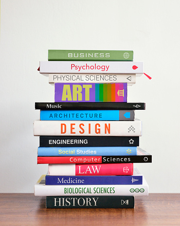 Choice「Pile of books depicting study choices.\」:スマホ壁紙(6)