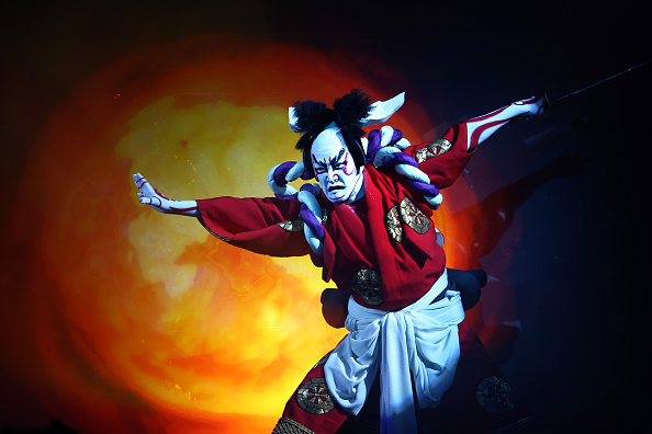 Tokyo - Japan「Kabuki Superstar And Virtual Diva Bring Traditional Art To A New Stage In Tokyo」:写真・画像(5)[壁紙.com]