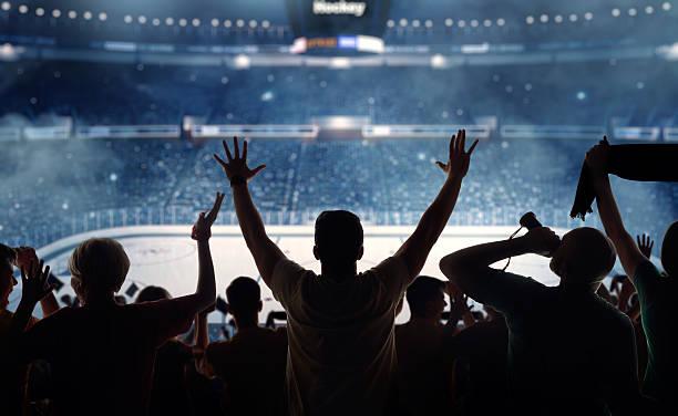 Fanatical hockey fans at a stadium:スマホ壁紙(壁紙.com)