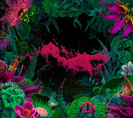 Surreal「Splash of paint in Fairy garden」:スマホ壁紙(5)