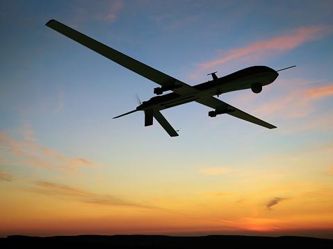 無人操縦機「無人車(UAV)空から見た」:スマホ壁紙(10)