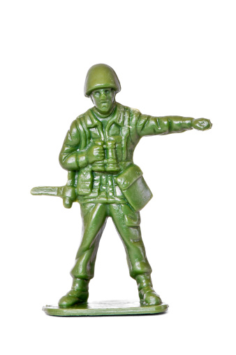 Battle「Generic toy soldier isolated on white」:スマホ壁紙(12)