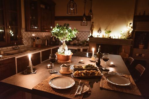 Party - Social Event「christmas dinner at home」:スマホ壁紙(1)