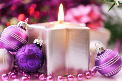Christmas Decoration「Christmas decoration in pink, green and silver」:スマホ壁紙(5)