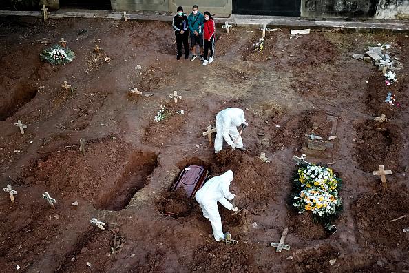Brazil「A COVID - 19 Burial Amidst the Coronavirus Pandemic」:写真・画像(4)[壁紙.com]