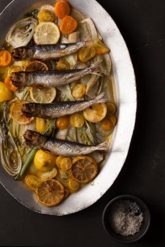 Fennel「Cooked shishamo fish on bed of citrus & fennel」:スマホ壁紙(16)