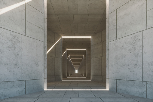 Footpath「Empty concrete corridor」:スマホ壁紙(16)