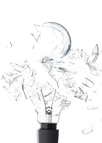 Demolishing「Exploding light bulb」:スマホ壁紙(14)