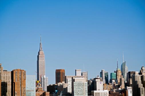 Empire State Building「New York City skyline」:スマホ壁紙(2)