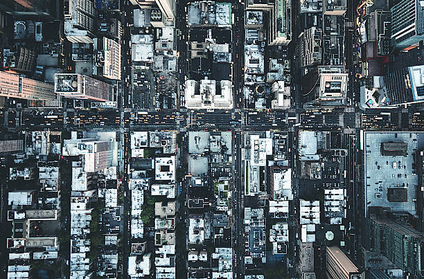 new york city aerial view of the downtown:スマホ壁紙(壁紙.com)