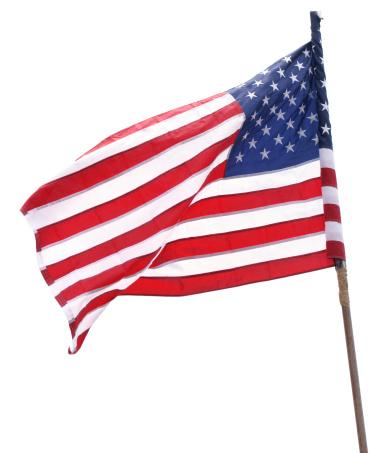 National Landmark「American Flag isolated on white」:スマホ壁紙(9)