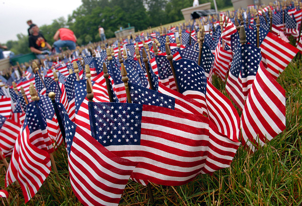 Grass「Sixty Thousand American Flags Set Up In Size And Shape Of Vietnam Veterans Memorial」:写真・画像(6)[壁紙.com]