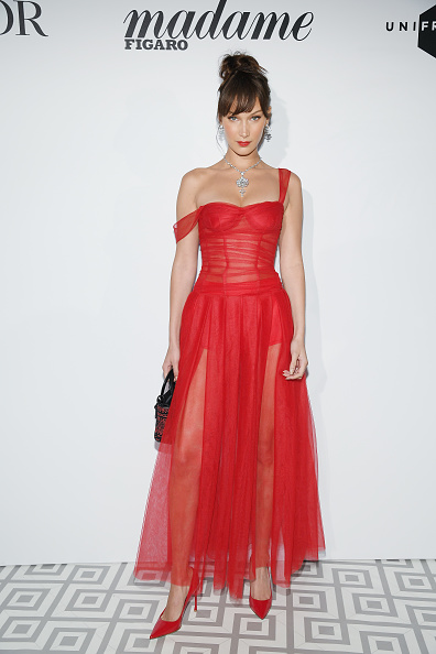 Red Dress「Madame Figaro and Dior Host Dinner - Arrivals : - The 71st Annual Cannes Film Festival」:写真・画像(1)[壁紙.com]