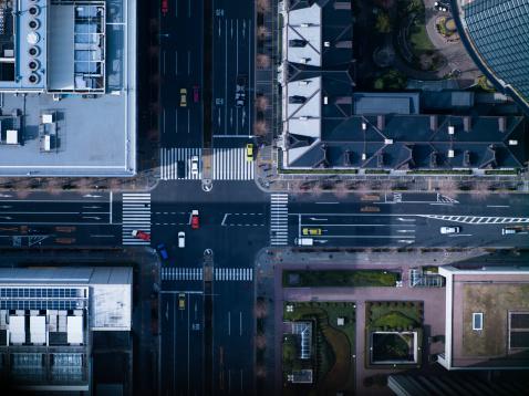 Traffic「The crossing way of Marunouchi in Tokyo」:スマホ壁紙(4)