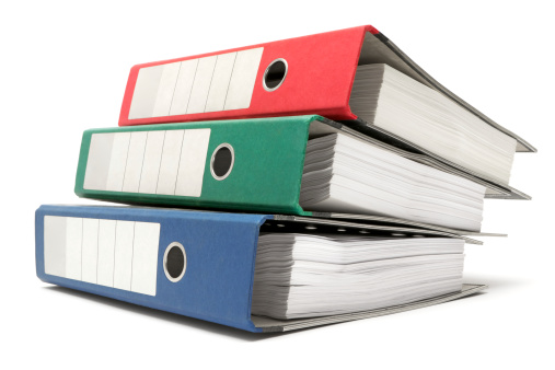 File「Stack of Three Colored Ring Binders」:スマホ壁紙(3)
