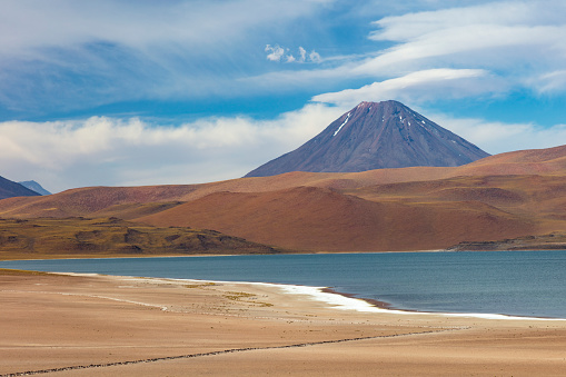 Volcano「Laguna Miscanti located in Atacama desert at 4,140m altitude, Chile, January 19, 2018」:スマホ壁紙(18)