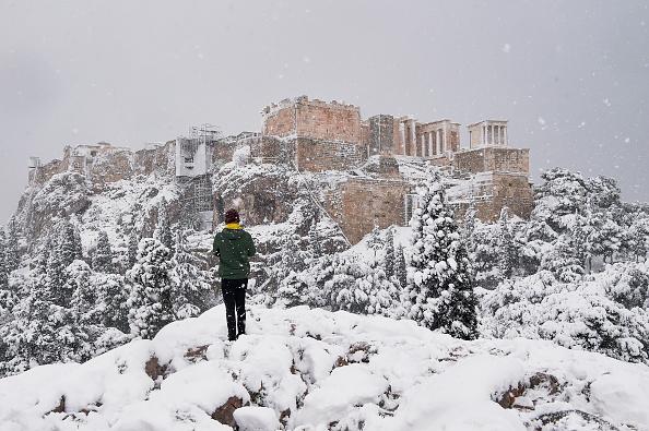 Snow「Rare Snow Halts Athens」:写真・画像(11)[壁紙.com]