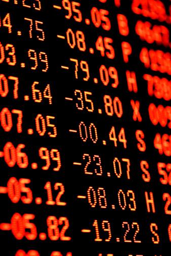Deterioration「Stock Market Crash  Heavy Selling - Red Financial Trading Screen」:スマホ壁紙(1)